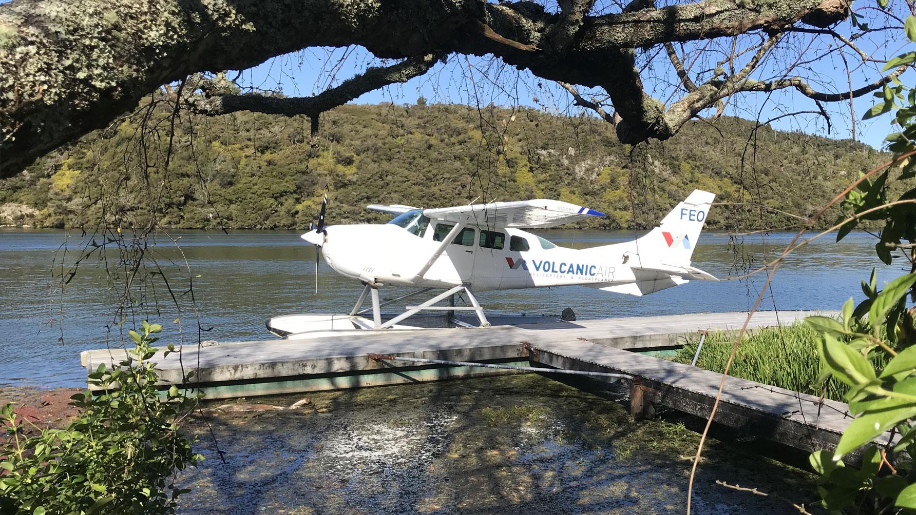 Orakei Korako floatplane