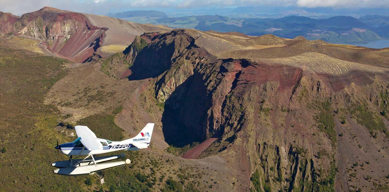 Mount Tarawera floatplane